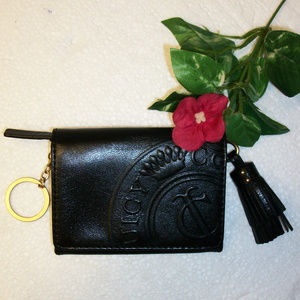 JUICY COUTURE Leather Wallet Change Purse NWOT